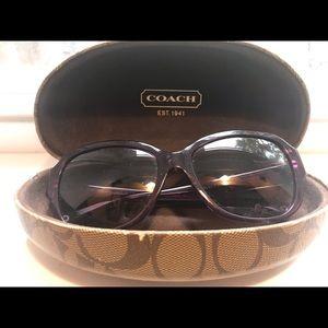 Coach Plum-colored glasses